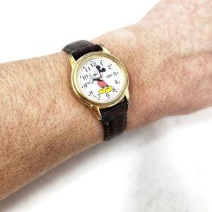 Vintage Mickey Mouse | Walt Disney Leather Watch